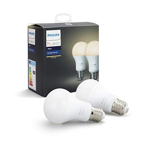 Lot de 2 Ampoules Connectées Philips Hue Blanc E27 (Offre spéciale jusqu'à 21.99€)