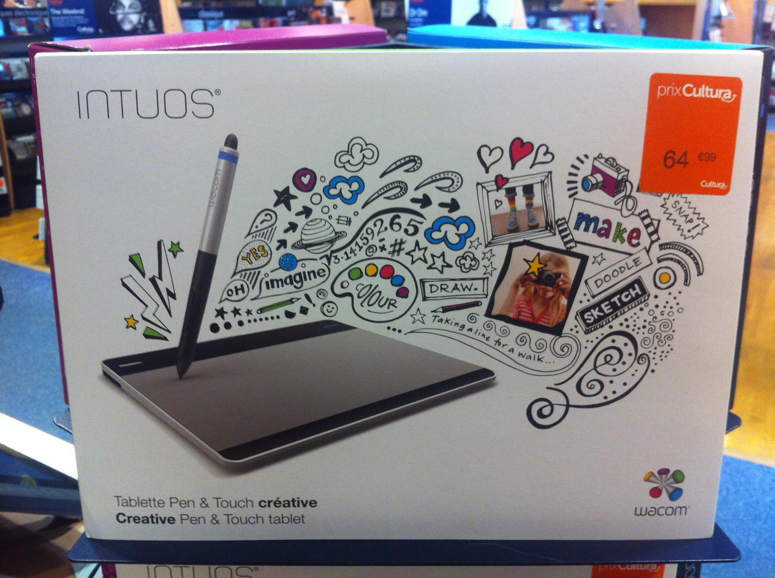 Sélection de tablettes graphiques Wacom en promotion - Ex : Intuos Pen & Touch S