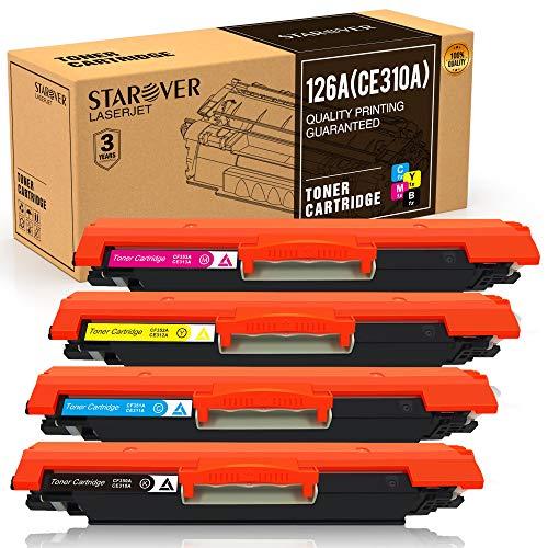 Pack de 4 Cartouches de Toner 126A CE310A (Compatibles HP)