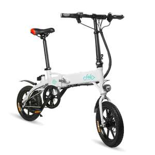 Vélo Electrique pliable Fiido D1 - 10.4Ah, Blanc ou Noir (Entrepôt FR)