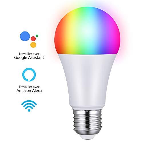 Ampoule LED RGB connectée compatible Alexa et Google Home (vendeur tiers)