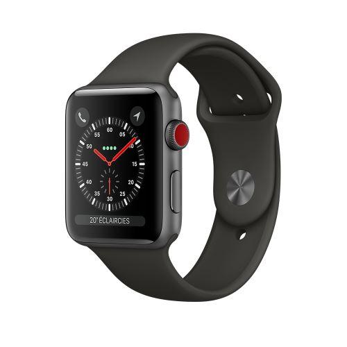 Montre connectée Apple Watch Série 3 GPS + cellular (Gris) - 38 mm