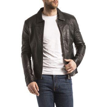 Veste en cuirBlue Wellford - Taille M,L ou XL, Noir (Vendeur tiers)