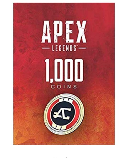 APEX Legends: 1000 Coins sur PS4, Xbox One et PC (Dématérialisé)