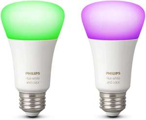 Pack de 2 ampoules LED Philips Hue White & Colors Ambiance E27