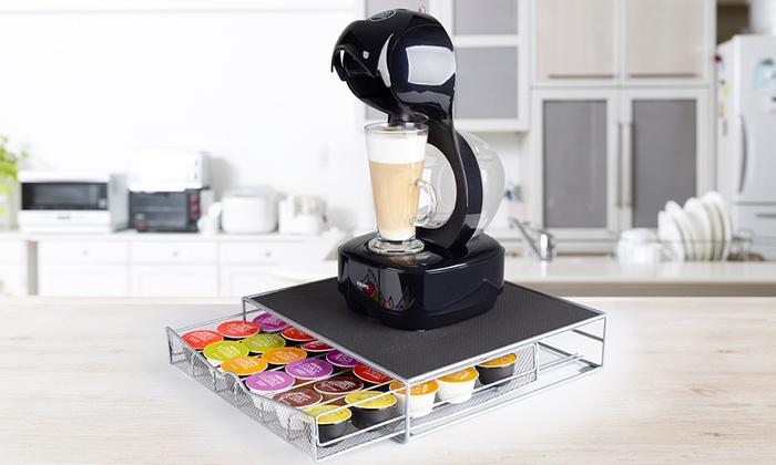 Support pour machine à Café Dolce Gusto avec tiroir pour 36 dosettes
