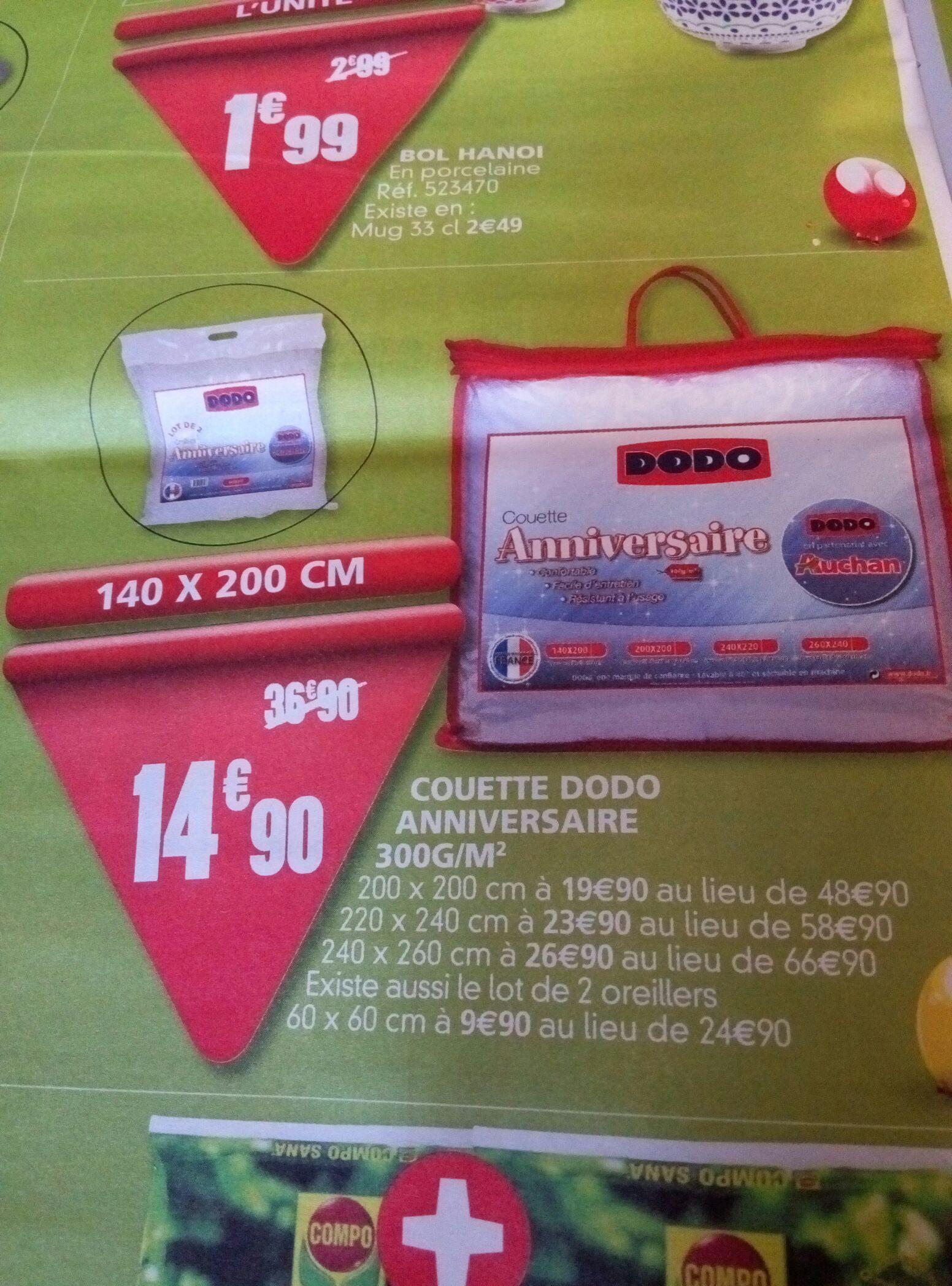 Couette Dodo 300g/m2 - Diverses tailles - Ex : Taille 140x200cm