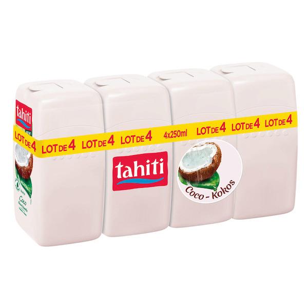 Lot de 4 Gels Douche Tahiti - 4 x 250 ml (Différentes variétés)