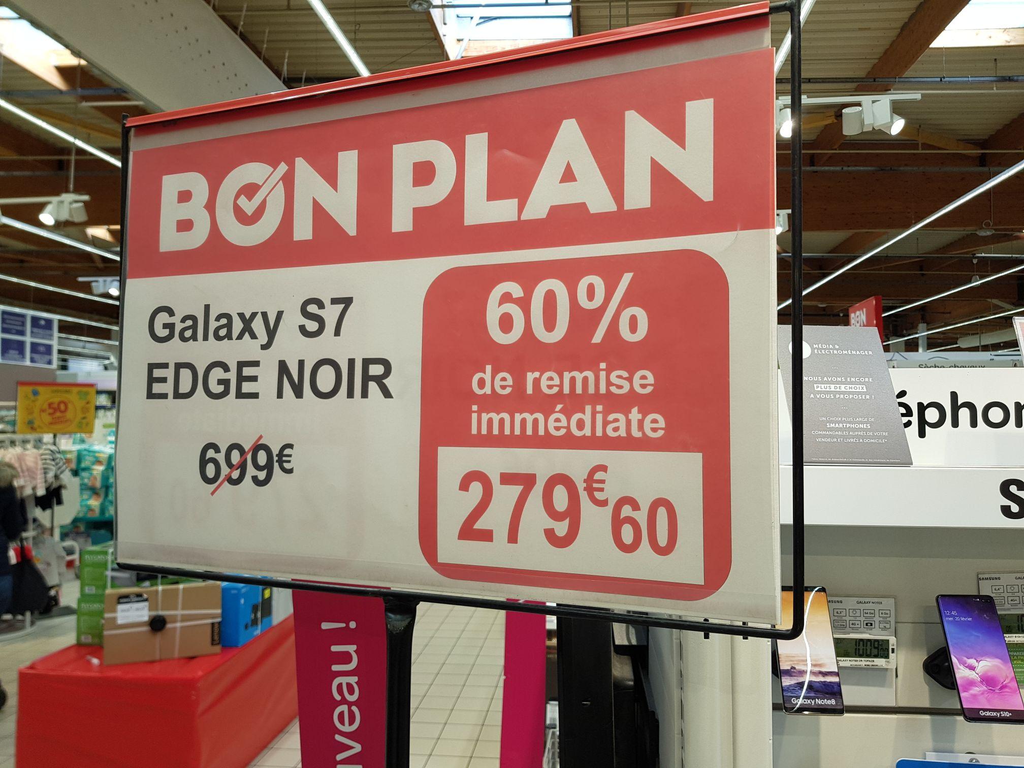 "Smartphone 5.5"" Samsung Galaxy S7 edge (QHD, Exynos 8890, 4 Go de RAM, 32 Go, noir) - Salaise-sur-Sanne (38)"