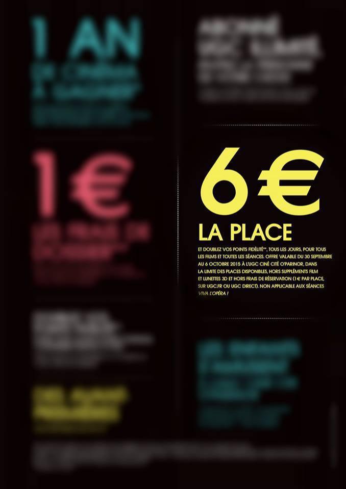 Places de cinéma UGC (et points fidélité doublés)