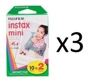 Sélection d'offres promotionnelles - Ex : 3 Lots de 20 Films Couleur Fujifilm Instax Mini