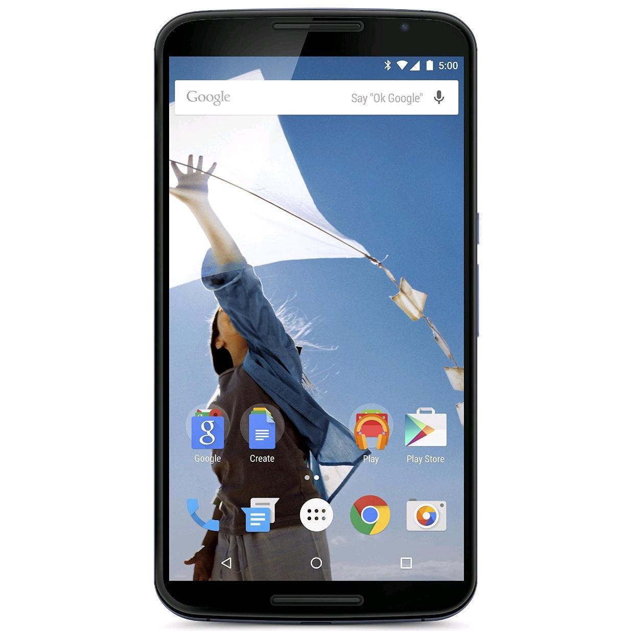 Smartphone Nexus 6 64 Go à 409.99€, 32 Go