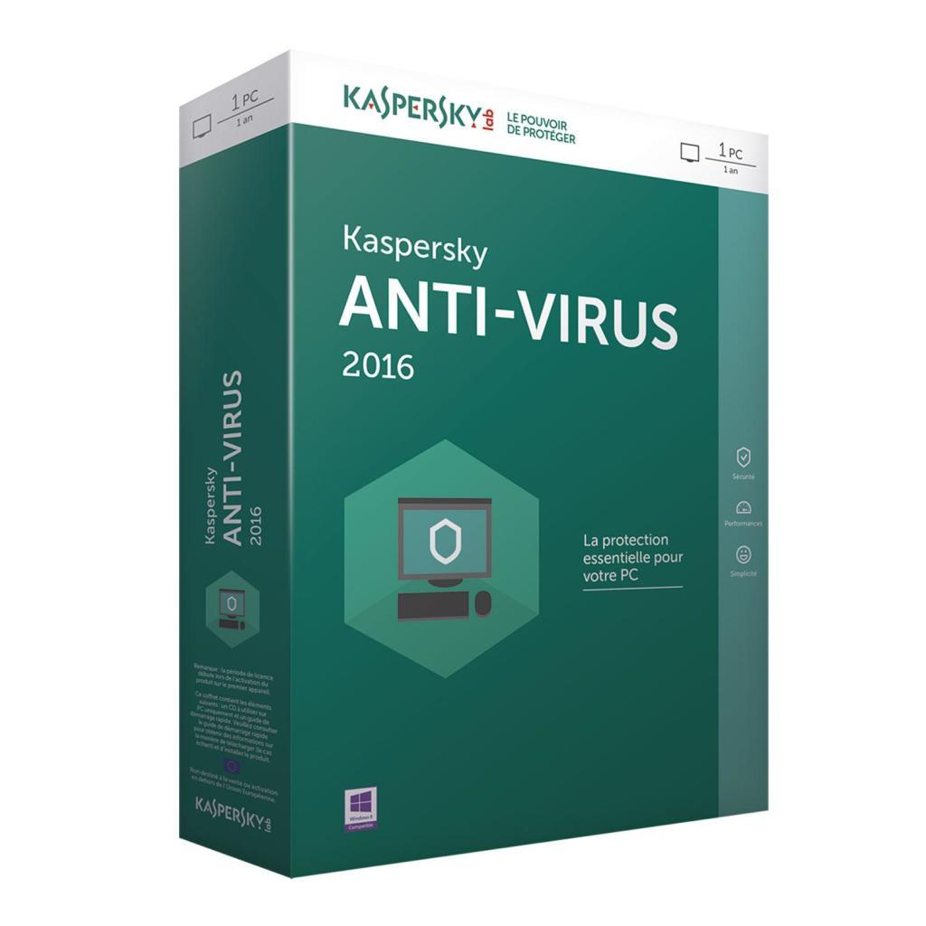 Licence 3 mois Kaspersky Anti-Virus 2016 gratuite