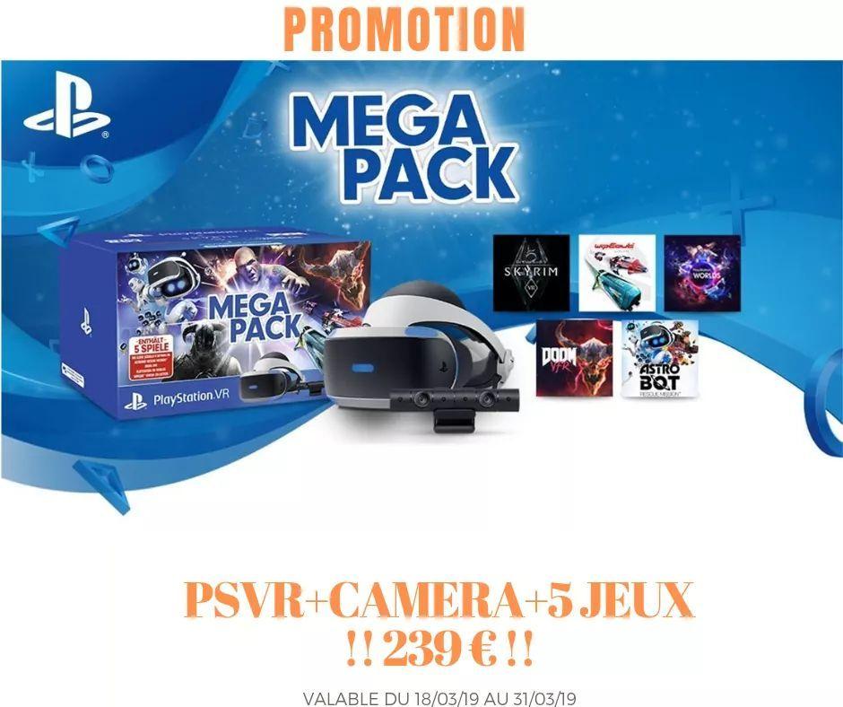 MegaPack Casque à réalité virtuelle PlayStation VR (Frontaliers Luxembourg)