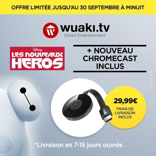 Clé HDMI Google Chromecast 2 + Les Nouveaux Héros