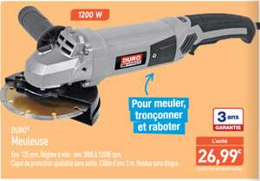 Meuleuse Duro - 125mm /1200W/