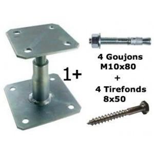 Platine réglable Simpson 100/150 + kit fixation