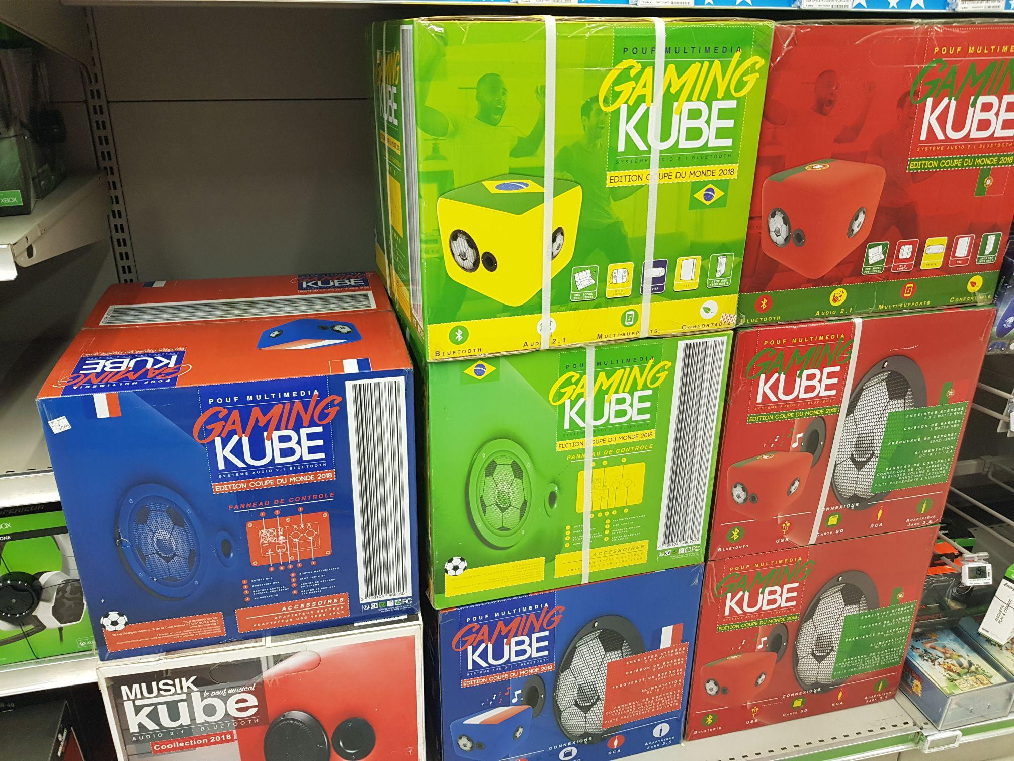 Pouf musical Musik kube - Carrefour carré sénart -via 34.97€ fidélité)