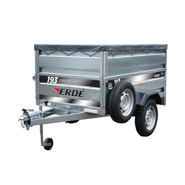 Remorque Erde 193 Premium + 5 accessoires (charge max. 500 kg)