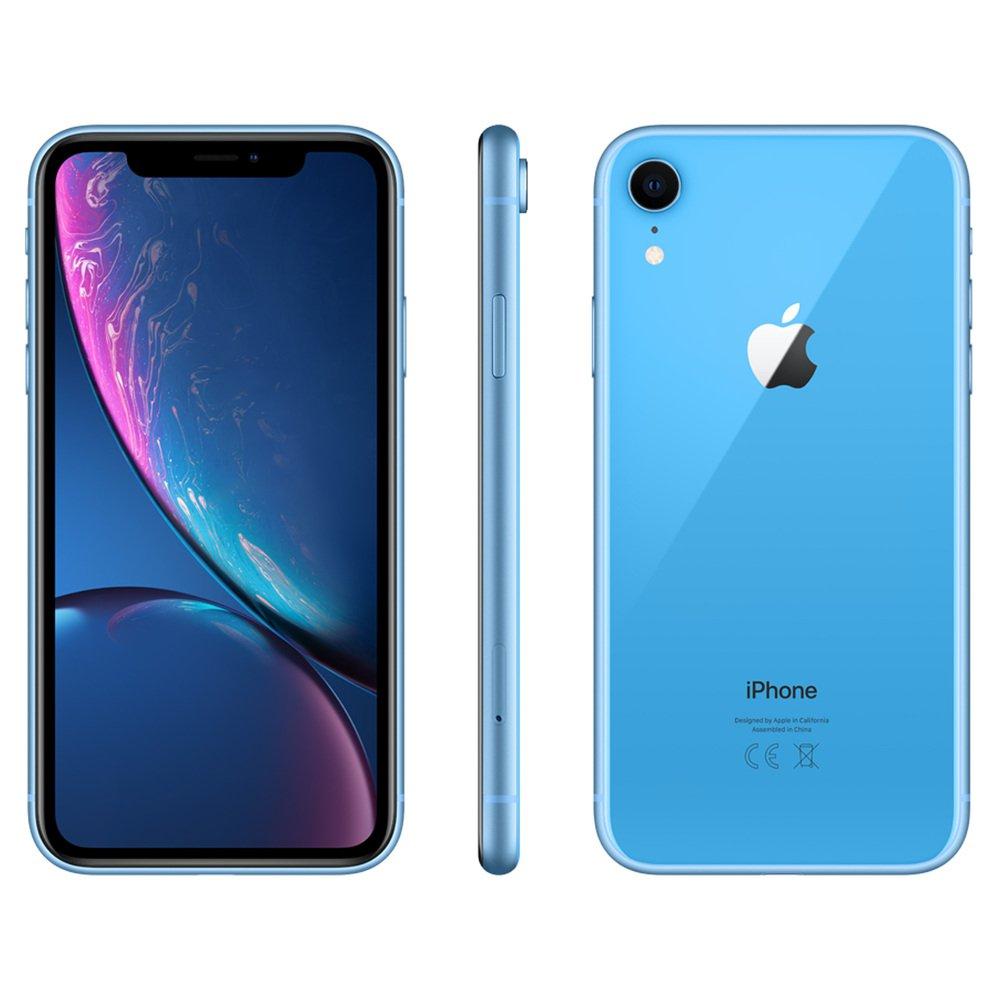"""Smartphone 6.1"""" Apple iPhone XR - 64 Go, Double SIM, Bleu ou Corail (+ Jusqu'à 120.36€ en SuperPoints)"""