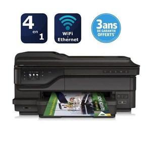 Imprimante 4 en 1 HP Officejet 7612 + Cartouche Noire XL (avec ODR 50€) + (2 bons d'achats de 47.25€)