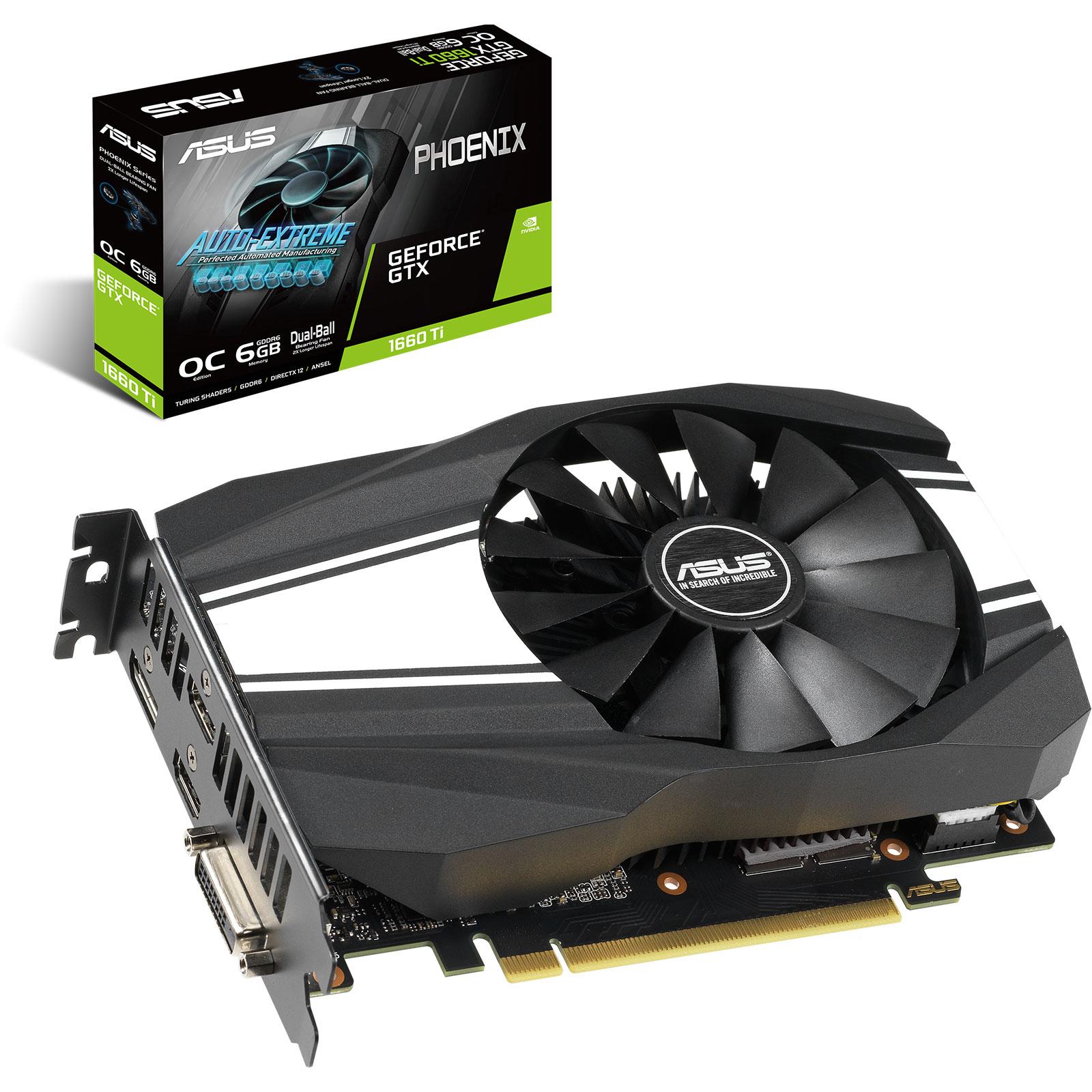 [Cdiscount à volonté] Carte graphique Asus GeForce GTX 1660 Ti - 6 Go (Offre spéciale disponible)