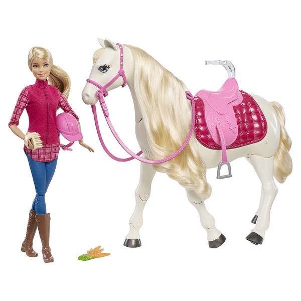 Jouet Poupée Barbie et son cheval de rêve
