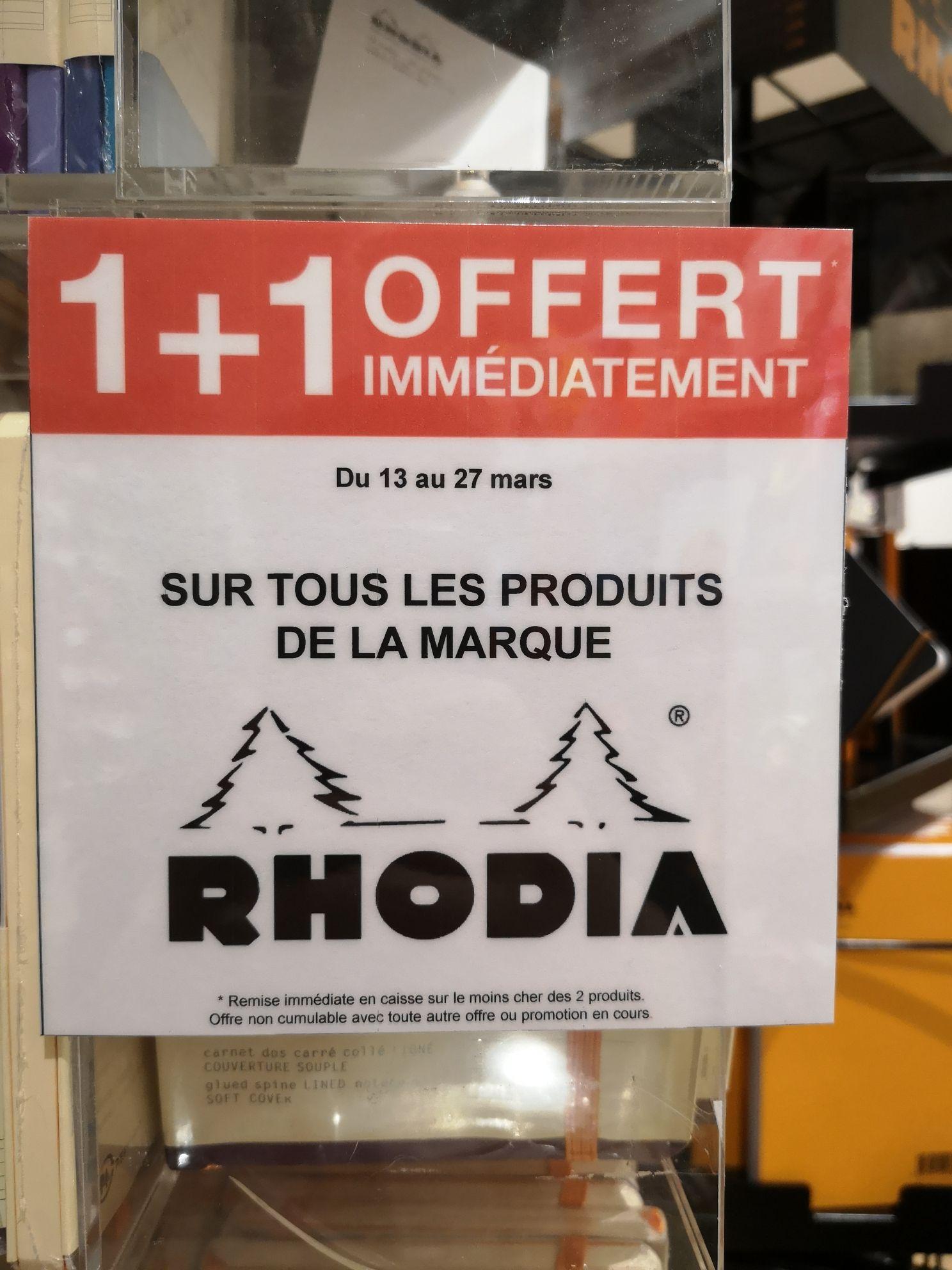1 Produit Rhodia acheté = un offert - Paris (75)