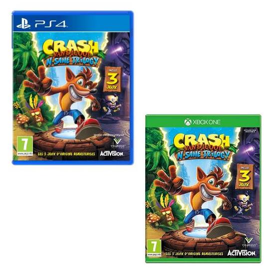 Crash Bandicoot N.Sane Trilogy sur PS4 ou Xbox One