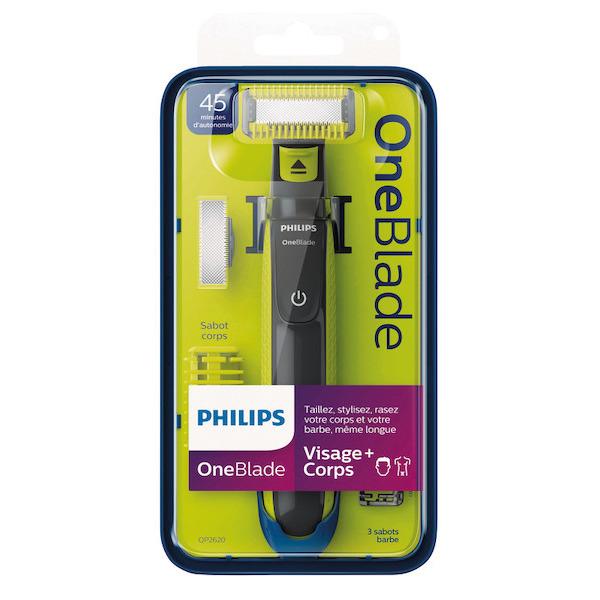 Rasoir Philips OneBlade Visage/Corps QP2520/20 (Via 21.93€ sur la Carte Fidélité)