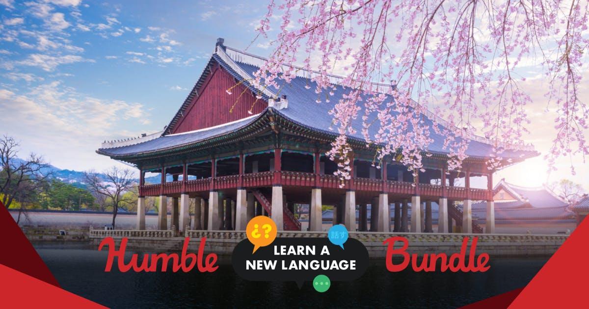 Humble Learn a New Language Bundle: 3 Mois d'accès à  3 Langues + 5 Guides à partir de 0.88€ (Dématérialisé)