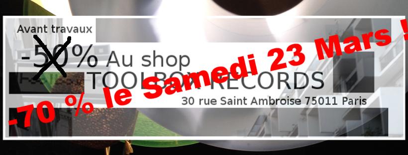 70% de réduction sur les Vynils Tekno (hors news) - Toolbox Records Paris (75)
