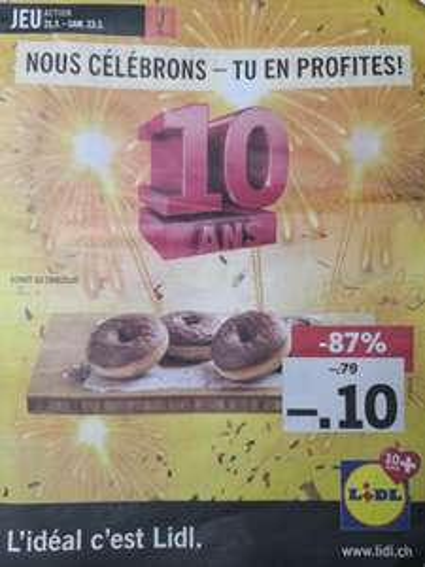 Donut au Chocolat (Frontaliers Suisse)
