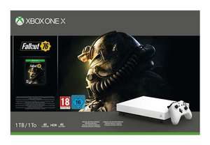 Pack Console Microsoft Xbox One X Edition Limitée Robot White - 1 To + Fallout 76