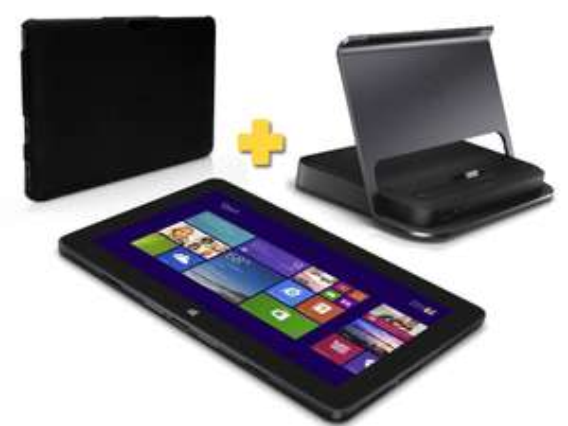 """Tablette 10.8"""" Dell Venue 11 Pro 5130-3547 (Intel Atom Z3770 2,4 Ghz, SSD 64 Go, 2 Go RAM) + Docking station Dell + Coque Dell"""