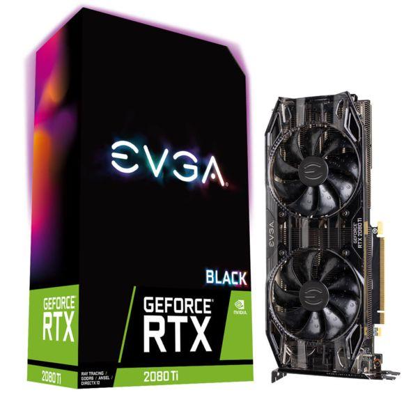 Carte graphique EVGA GeForce RTX 2080 Ti Black Edition Gaming (Reconditionné)