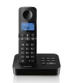 Téléphone fixe sans fil avec répondeur Philips D3151B - Noir
