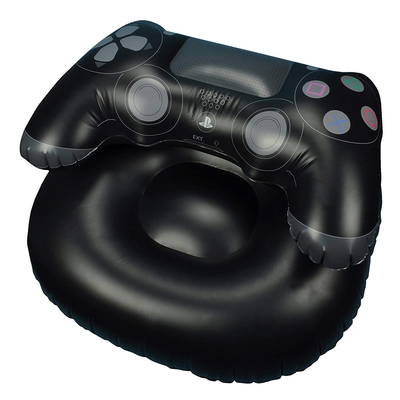 Fauteuil gonflable officiel PlayStation en forme de manette DualShock 4 - en PVC, 110x85x64 cm
