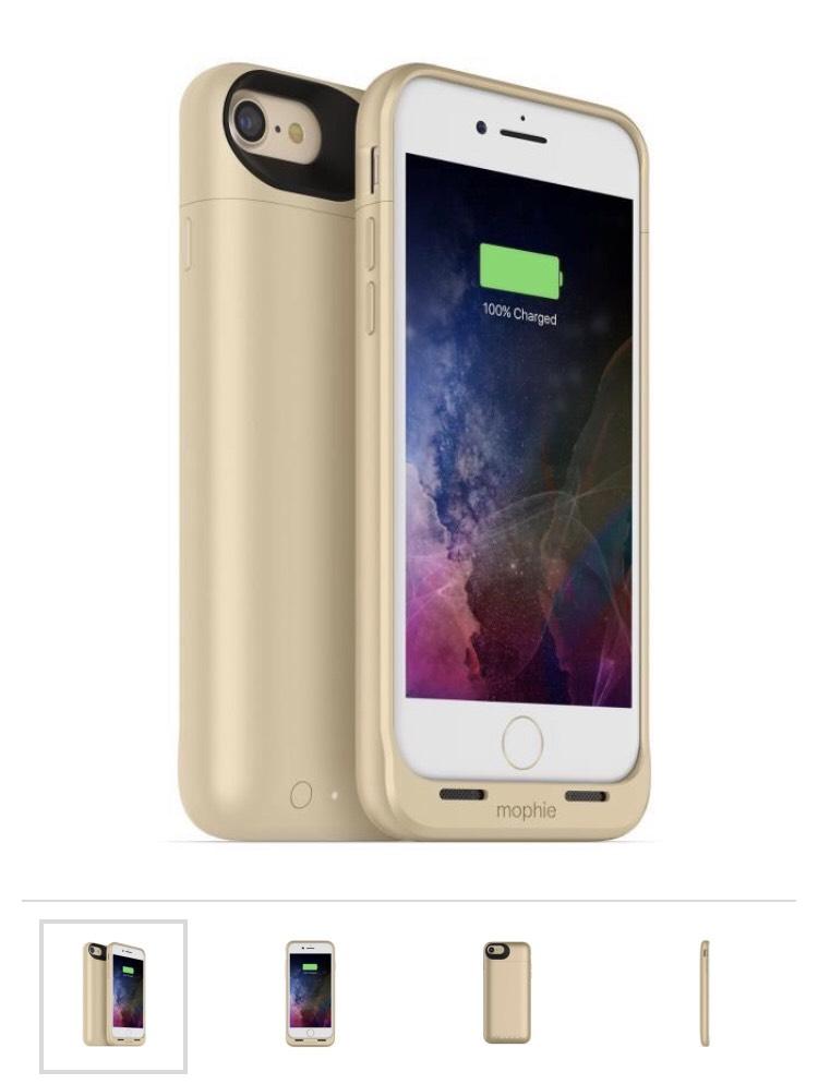 Coque pour iPhone 7 avec batterie et charge induction Mophie Juice