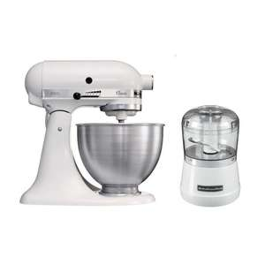 Robot sur socle Kitchenaid 5K45SS 4,3L + Hachoir Classic 5KFC3515