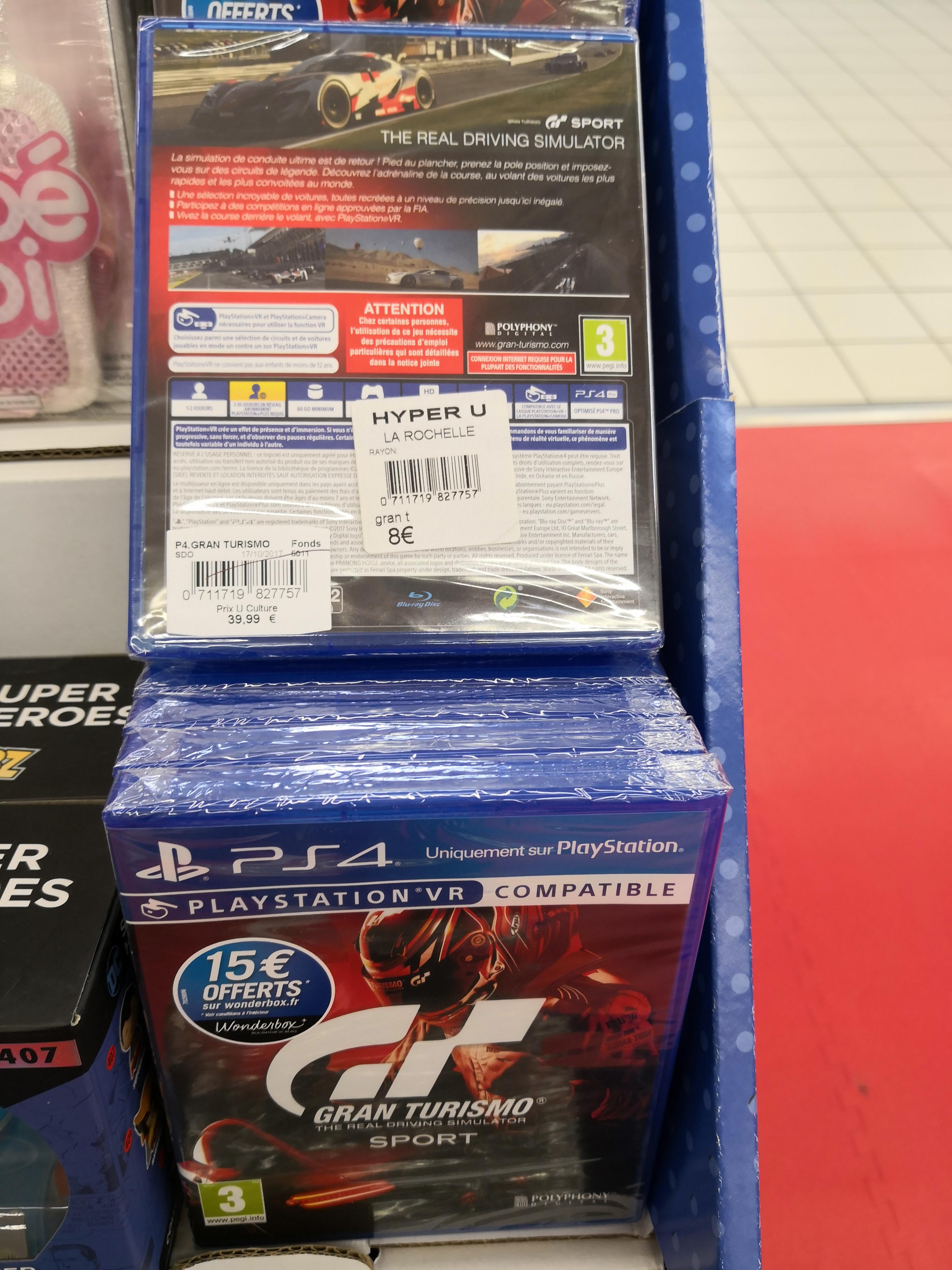 Gran Turismo Sport sur PS4 (Beaulieu La Rochelle 17)