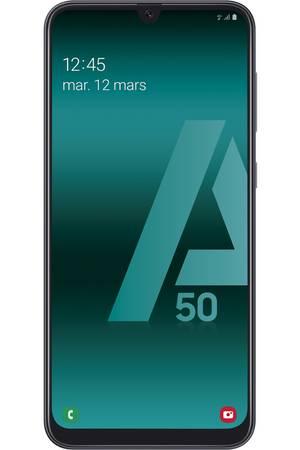 "Smartphone 6.4"" Samsung Galaxy A50 - 4 Go de RAM, 128 Go de ROM, Noir ou bleu (+30€ en carte-cadeau)"