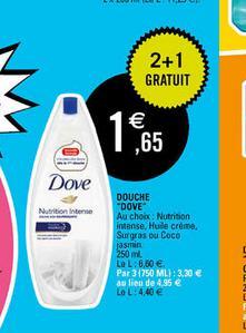 3 gels douche Dove  (BDR 0.50€)
