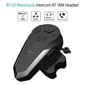Intercom pour Moto Bluetooth BT-S3