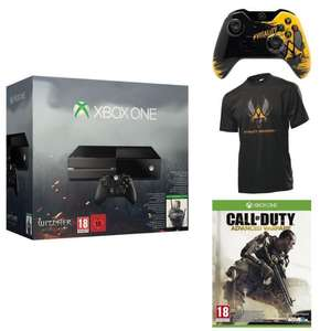 Pack Xbox One + The Witcher 3 + Call of Duty Advanced Warfare + Manette Xbox One Vitality + T-shirt Vitality