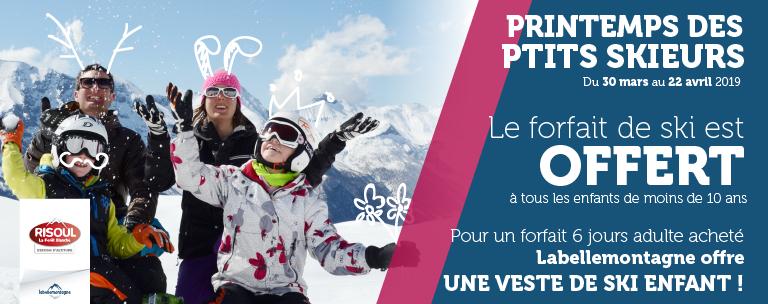 Ski gratuit pour les moins de 10 ans à la station de risoul (05)