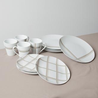 Service de vaisselle en porcelaine 12 pièces