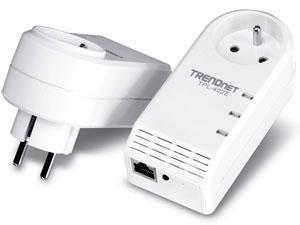Kit de 2 Adaptateurs Trendnet CPL 500 Mbps + Prise filtrée HomePlug AV - TPL-402E2K