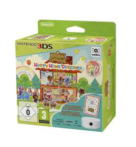 Animal Crossing Happy Home Designer sur 3DS + Lecteur NFC pour Nintendo 3DS + 1 Carte Amiibo + Paquet de 3 cartes