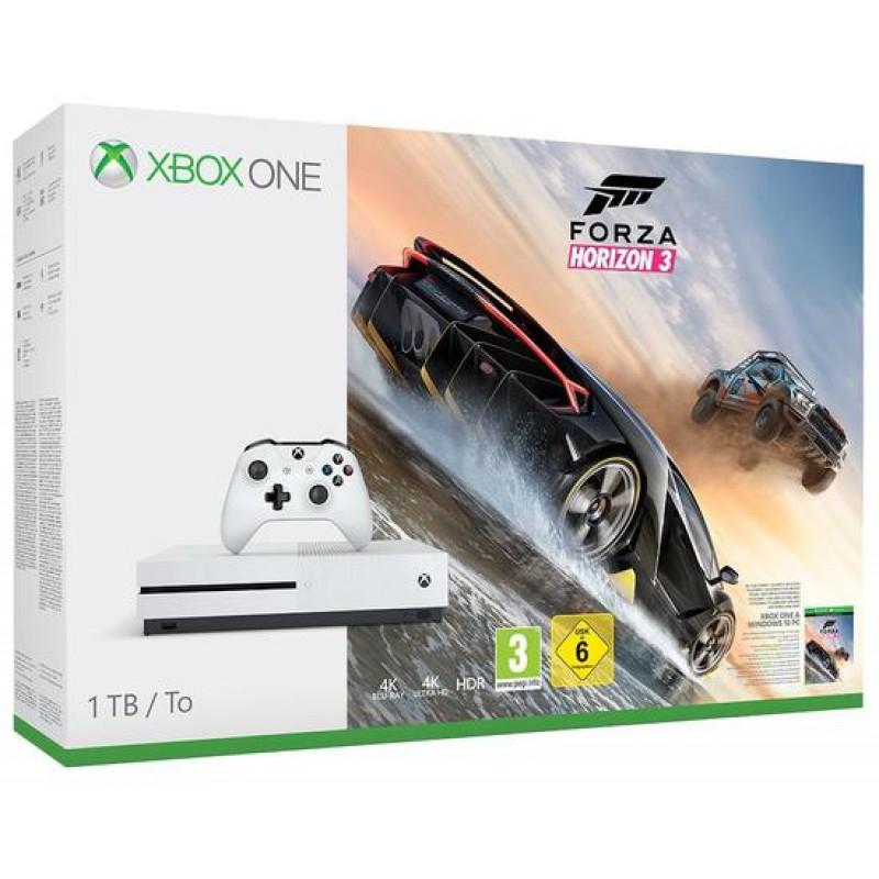 Sélections de Packs Microsoft Xbox One S 1To + 1 jeu à 219€